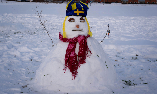 Hungover snowman